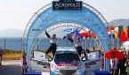 208T16_PeugeotTurkiye_Otomobiltutkunu_MOTORSPORT - EUROPEAN RALLY CHAMPIONSHIP 2014 - ACROPOLE RALLY OF GRECE - LOUTRAKI (GRE) 28/03 TO 30/03/2014 - PHOTO : GREGORY LENORMAND / DPPI - 02 BREEN CRAIG / MARTIN SCOTT  - PEUGEOT 208 T16 R5 - AMBIANCE  - PORTRAIT - PODIUM -