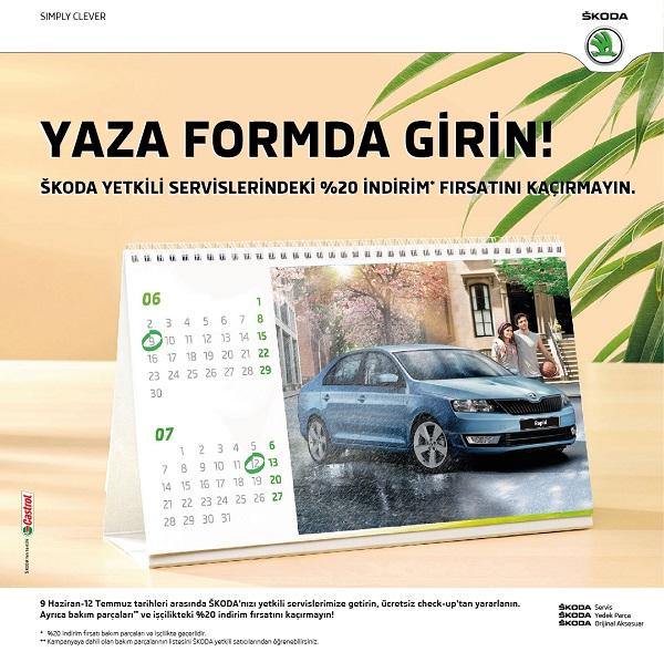Skoda Yaz Bakım kampanyası