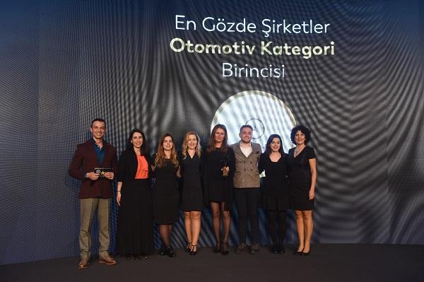 Otomotiv Sektörünün En Gözde Şirketi Ödülü